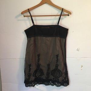 Zara lace sheer tank